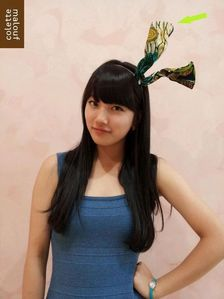 """708.""""I wish Suzy will never change her current hair color. I prefer her with black hair. The pure and"""