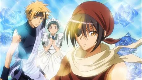 Misaki, Usui, and Yukimura cosplaying