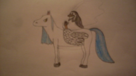 TornHeart's request. I love drawing horses. :) I'm really sorry about the blurry camera.