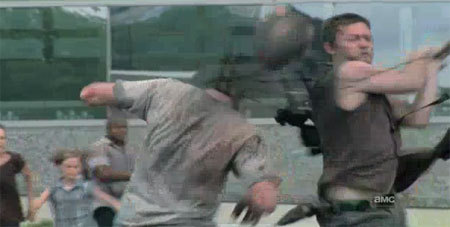 25. What Walker kill has been the best? Why? Daryl chopping that walkers head off at the end of Sea