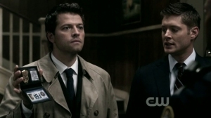 """Castiel pretending to be an FBI agent"""