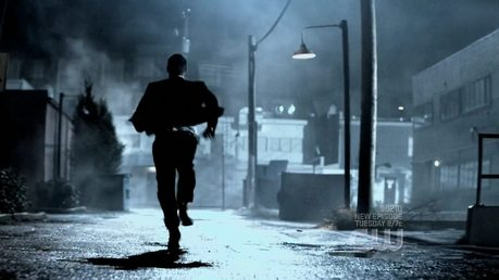 """Dean running from a dog"""