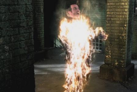 &quot;Crowley burning.&quot;<br />