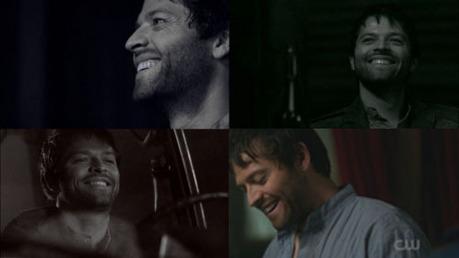 Castiel smiling