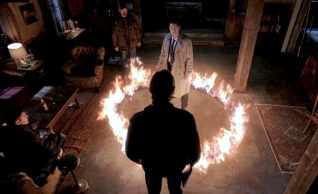"""""""Castiel trapped in holy fire ( By Sam, Dean and Bobby)"""""""