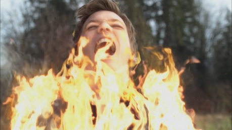 """""""Michael burning with Holy Fire"""""""