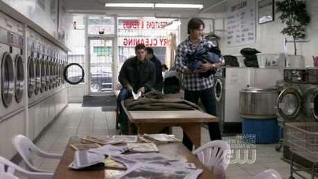 Dean and Sam doing laundry...