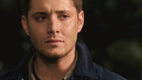 """""""Dean with one eyed tear"""" One perfect tear ♥"""