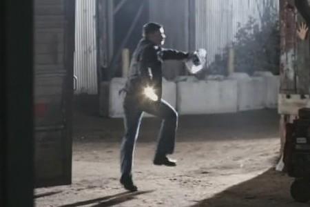 Dean running away in terror