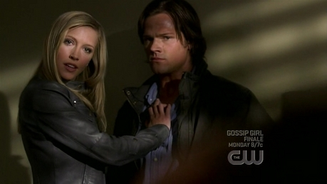 """Blonde Ruby threatening Sam"""