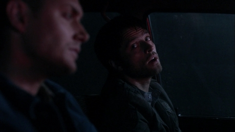 """The end"" with Dean and Cas.  This was surprisingly difficult!  It's all back and forward c"