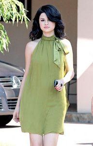 4. Selena wearing Green