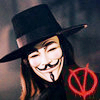5. Single Letter  V for Vendetta. I really like this movie guys