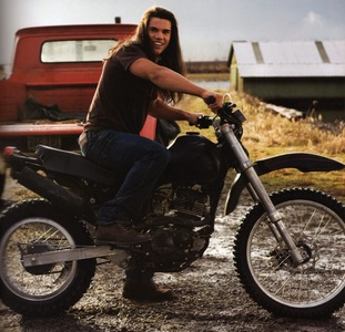 Hot jake on a motorbike