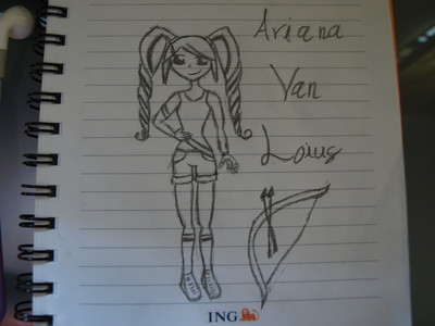 so i was doodling and i drew my character. hehe. so what wewe think?