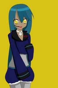 Here is mine XD Name: Aki Motatsu Gender: female Age: 15 Number: 44 Hair color and style: Blue teal,