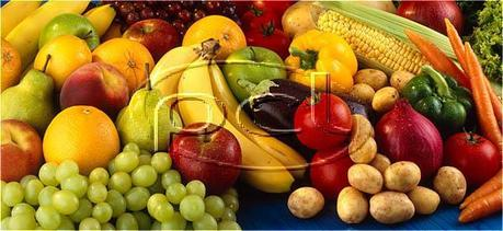 plenty of fresh fruits and veggies! :)