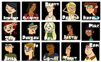 My Favorite Characters On Total Drama.