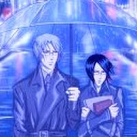 Ishidas under the umbrella <3