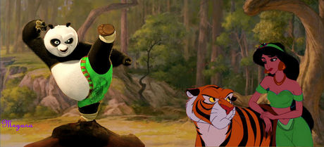 Here&#39;s my entry. Jasmine with Po from Kung Fu Panda.<br /> <br /> &quot;Not impressed&quot;