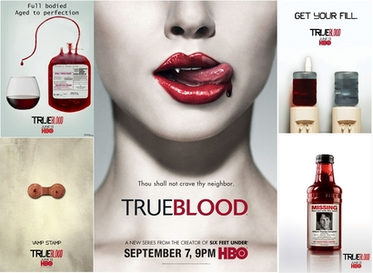 Day 11 - Favorite promotional poster  I absolutely love the TRUE BLOOD posters...