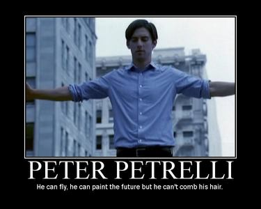 Those posters were AWESOME!!! siku 13 - A maarufu character wewe don&#39;t like Peter Petrelli from <i>He