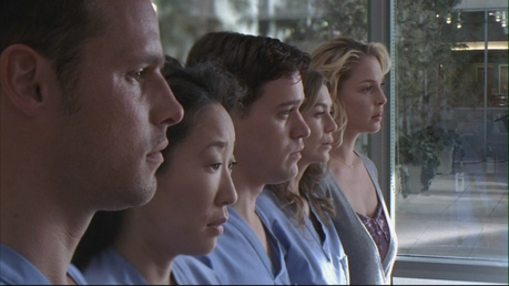 20. For example Richard asking the interns in 2x27, who cut the LVAD wire :D