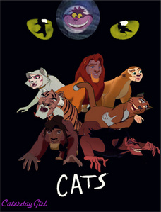 This is my version of a disney gatos the musical. I hope tu don't mind that I made into a poster. Her