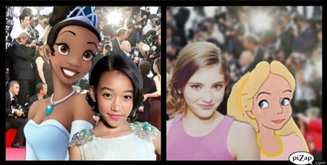 I kept thinking 'siblings' xD Tiana and Amanda Stenberg Alice and Willow Shields
