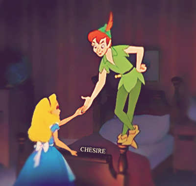 An old work. Peter Pan&#39;s one of my fave <3 Plus Alice is my favoriete young heroine.