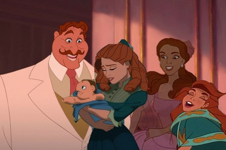 This is mine. Big Daddy and Tarzan's mother are the parents and Maria Romanov, Anastasia and Tarzan a