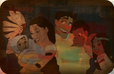 Poca and Naveen are the parents and Tigerlilly, mowgli and Ranjan are their children :D