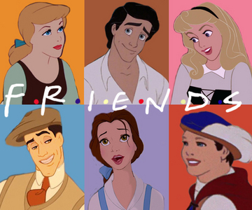 "My favourite TV Zeigen it is ""Friends"" Rachel- Aurora Monica- Belle Phoebe- Aschenputtel Joey- Eric"