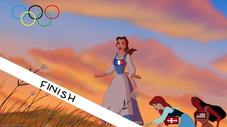 Here is mine x As u can see they are sprinting - Belle is first, representing France, Ariel is se