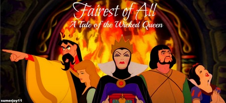 The book is about Snow White's stepmother, The Queen, and how she really wasn't wicked at first. King