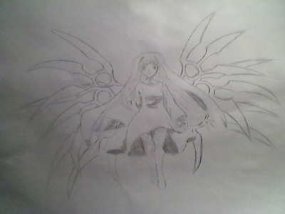 This is my drawing of Chaos from Sora no Ototshimono :) The lines are a bit unclear, because of my ba