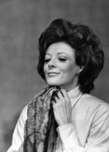 Maggie Smith of course! She is simply an awesome actress and probably a very funny person ;)