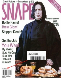 I'll start off with this one: If Snape died on May the 2nd 1998, what's he doing here in 2001 in Snap