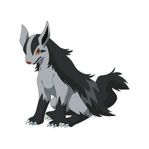 star:*as soon as she gets outside and to one spot she turns into mightyena so she can look like a nor