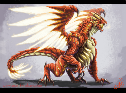 I am but in the firelands <br /> -turns to mmy dragon form-see-turns back to my human form-