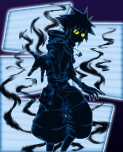 -dark aura  crawls up my body and takes over and I change form-