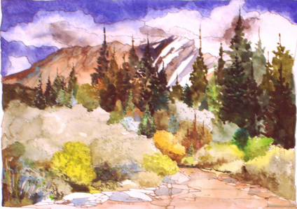 Watercolor by Chris Messer