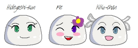 Yuuki: *Sighs then starts drawing mochi versions of her and her friends*