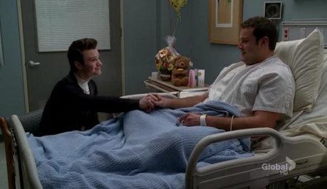 Kurt comforting Karofsky