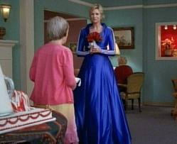 Very nice blue wedding dress Sue LOL !