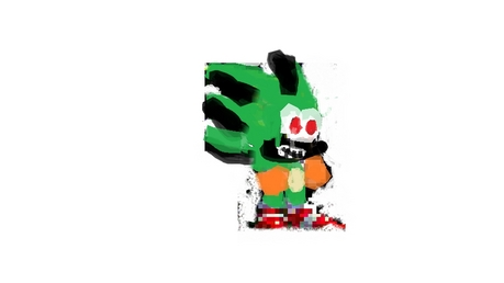 sparky the hedgehog shy, but gets angered easily. has chaos powers. sparky: *runs into the school*