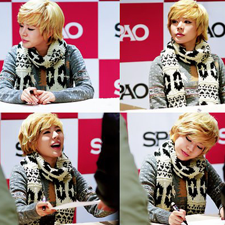mine... Sunny! ^^ 1. SPAO fansigning