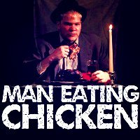 9. Eating (Holy crap! A man-eating chicken!)