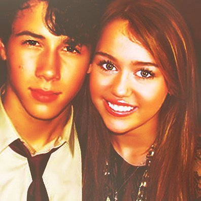 Miley and Nick Jonas