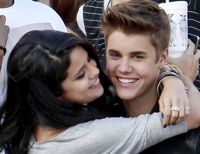Selena Gomez and Justin Bieber.